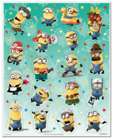 Despicable Me Minions Stickers 4 sheets ~ Birthday Party Favors Supplies (72pcs)