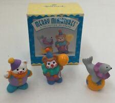 Vtg Hallmark 1995 1996 Merry Miniatures Happy Birthday Clowns Clown Seal