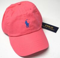 Polo Ralph Lauren Ball Cap Hat Mens One Size Adjustable Band Pink NEW $45 NWT