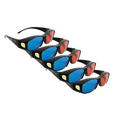 Reality 5pcs red blue 3D glasses frame for Anaglyph Movie Game Theatre