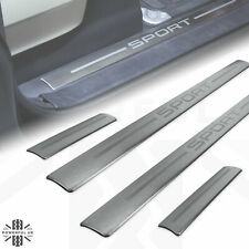 Door step tread plate sill insert 'SPORT' for Range RoverL320 brushed metal