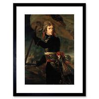 Painting Portrait Gros Napoleon Bonaparte Arcole Bridge Framed Print 12x16 Inch