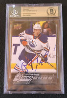 CONNOR MCDAVID Signed 2015-16 Upper Deck Jumbo Young Guns Auto Autographed BAS