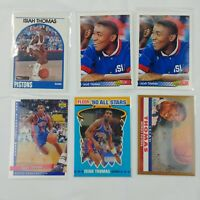 6 Isiah Thomas Trading Cards Basketball Detroit Pistons - Lot #17