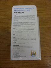 21/04/2013 Manchester City Away Travel Guide: Tottenham Hotpsur v Manchester Cit