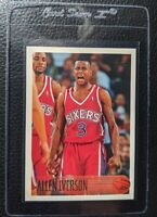 1996 TOPPS #171 ALLEN IVERSON ROOKIE CARD RC SIXERS HOF