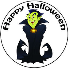 "Halloween Cartoon Vampire Cake Topper - Pre-cut Round 8"" (20cm) Icing Decoration"