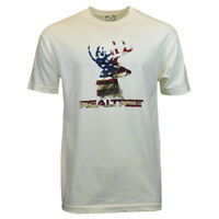 REALTREE Men Tee T Shirt S L 2XL Deer American Flag Camo Logo Hunting Sleeve NEW