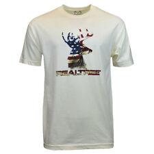 REALTREE Men Tee T Shirt S L 2XL Deer American Flag Camo Logo Hunting Sleeve NEW