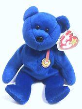 "Ty Beanie Baby Babies ""Clubby"" 01 1998 Official Club Bear Royal Blue 1998 VGUC"