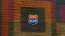 US Highway 420 Street Sign Medical Mary Jane 710 Dabs Enamel Lapel Hat Pin