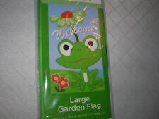 "new Garden Flag FROG 59"" x 35.4"" Welcome D20"