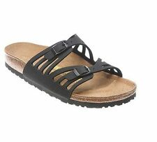 Authentic Women's Birkenstock Black Granada Adjustable Straps Slide Sandals*NIB*