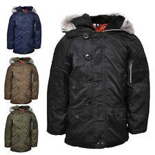 Boys  Parka Jacket Coat School Winter Christmas Xmas RRP £39.99 Age 2-13