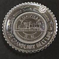 Carver MA Edaville Narrow Gauge Railroad Vintage Pairpoint Glass Cup Plate Decor