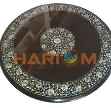 2' Marble Center Coffee Table Top Mother of Pearl Floral Inlay Dining Decor B601
