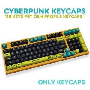 Cyberpunk 2077 Keyboard Keycaps 117 Keys Personalized for Mechanical Keyboards