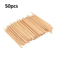 50PCS Nail Art Cuticle Pusher Remover Pedicure Manicure Orange Wood Sticks Tool