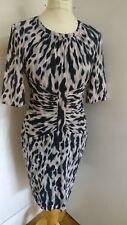 WHISTLES LADIES ANIMAL PRINT DRESS ZIP UP BACK SIZE 8 DESIGNER HOLLY KATE SILK
