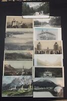 Lot of 13 Vintage Postcards of GERMANY and FRANCE Real Photos Some Rare UNUSED !
