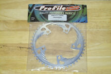 NEW PROFILE RACING AL ALUMINUM ALLOY BMX CHAIN RING CHAINRING 41T 41 T SILVER!!!