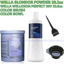 WELLA POWDER BLONDOR  28.2oz+30V DEVELPER 33.8OZ+COLOR BRUSH+BOWL