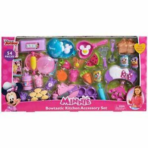 Disney's Minnie Mouse Bowtastic Kitchen Accessory Set 54 Pieces - brown box mail