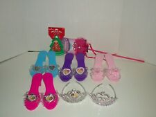 Barbie Shoe And Tiara Set With Princess Wand And Barbie Pin NEW