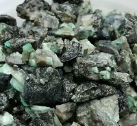 1/4 lb 500 CTS ROUGH EMERALD GEMS NATURAL UNSEARCHED MINERAL LOT, Lapidary cabb