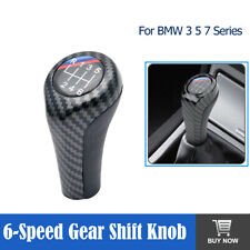 6 Speed Gear Stick Shift Shifter Knob Carbon Fiber For BMW E90 E91 E92 X1 X5