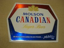 Molson Canadian 12 oz Beer Label - Molson Breweries of Canada