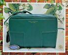 NWT TORY BURCH BLOCK-T Double-Zip SATCHEL Crossbody Bag In NORWOOD GREEN Leather
