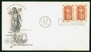 Mayfairstamps United Nations FDC 1967 Woman With Dove Olive Branch Block First D