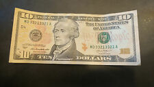 $10 Dollar Reserve Note, Series 2013 Fancy Serial Number Repeater MD 33213321 A