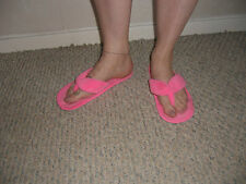 FLUFFY SLIPPERS SIZE 8 WELL WORN