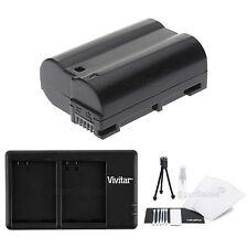 EN-EL15 Replacement Battery & USB Dual Charger f/Nikon D7000 D600 D800 D800E 1V1