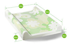 BabyDam Baby Changing Mat Luxury Padded Base With Anti Roll 70x51cm White|Green