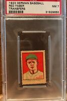 1923 German Baseball Transfers Red Faber HOF PSA 7