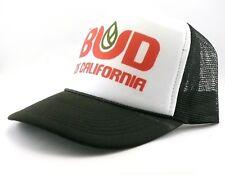 Bud Trucker Hat mesh hat snapback hat black new adjustable California party hat