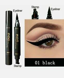 Double-Headed Eyeliner Stamp 2 In1 Quick-drying Liquid Eyeliner Waterproof Easy-