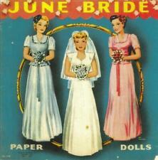 Vintage Uncut June Bride Paper Dolls~8 Pgs Clothing +Cover Choice~#1 Reproductio