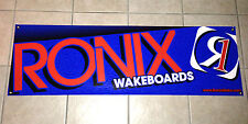 "Huge 2013 Ronix Banner Blue 76"" * 24"" Wakeboard With 2 Ronix Stickers Decals"