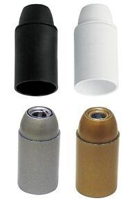Fassung Iso-Fassung E14 mit Glattmantel für Lampe weiß, schwarz, silber, gold