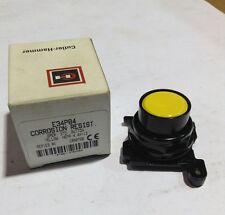 E34PB4 Cutler Hammer Corrosion Resist. Oper. Std . Button Yellow (New)