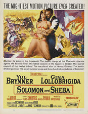 Solomon & Sheba Yul Brynner Gina Lollobrigida poster print