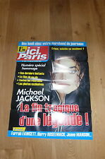 MICHAEL JACKSON !!! ICI PARIS!!RARE FRENCH PROMO POSTER