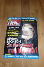 MICHAEL JACKSON !!! ICI PARIS!!RARE FRENCH PROMO POSTER