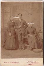 Altes Foto 1887 Geschwister Vieweg Olemotz Klein Diphterie Frankfurt am Main