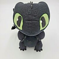 Dreamworks How to Train Your Dragon Black Toothless Growling Talking Plush Doll