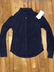ATHLETA Salutation Jacket  M Medium NWT Black #657490 Workout Yoga Casual
